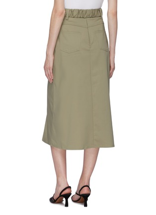 Back View - Click To Enlarge - C/MEO COLLECTIVE - 'To A Stranger' belted mock wrap skirt