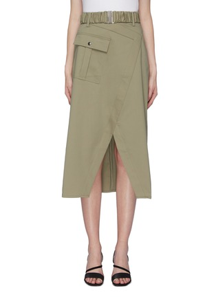 Main View - Click To Enlarge - C/MEO COLLECTIVE - 'To A Stranger' belted mock wrap skirt