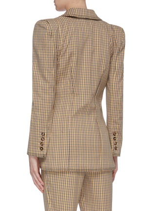 Back View - Click To Enlarge - C/MEO COLLECTIVE - 'Viewpoint' notched lapel check plaid darted blazer