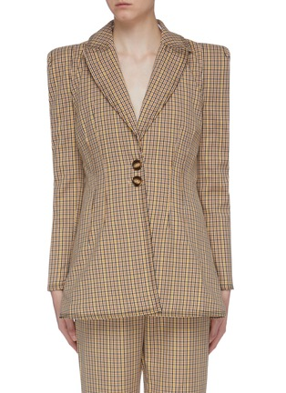 Main View - Click To Enlarge - C/MEO COLLECTIVE - 'Viewpoint' notched lapel check plaid darted blazer