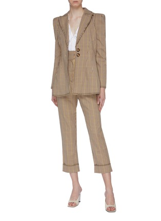 Figure View - Click To Enlarge - C/MEO COLLECTIVE - 'Viewpoint' notched lapel check plaid darted blazer