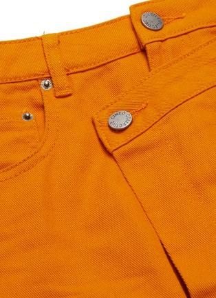 - C/MEO COLLECTIVE - 'Regardless' asymmetric mock wrap denim skirt