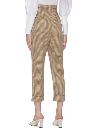 Back View - Click To Enlarge - C/MEO COLLECTIVE - 'Viewpoint' roll cuff check plaid twill pants