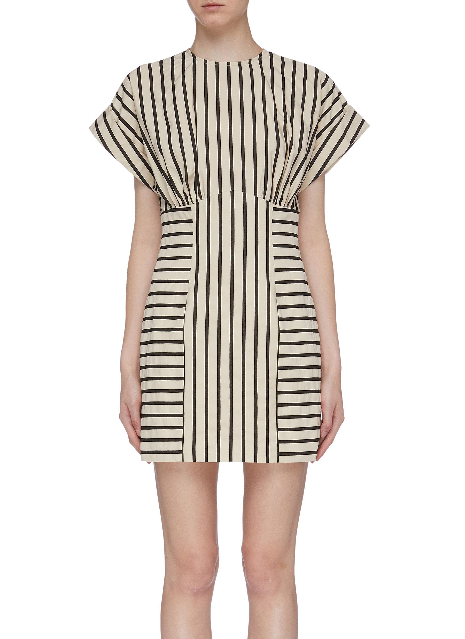 High As Hope stripe panelled dress by C/Meo Collective