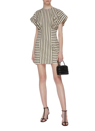 Figure View - Click To Enlarge - C/MEO COLLECTIVE - 'High As Hope' stripe panelled dress