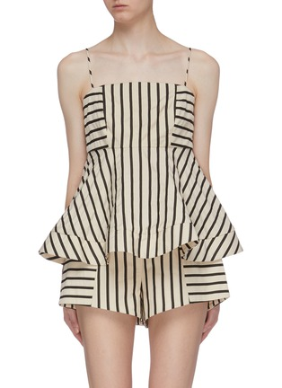 Main View - Click To Enlarge - C/MEO COLLECTIVE - 'High As Hope' stripe peplum top