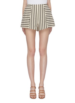 Main View - Click To Enlarge - C/MEO COLLECTIVE - 'High As Hope' stripe panelled shorts
