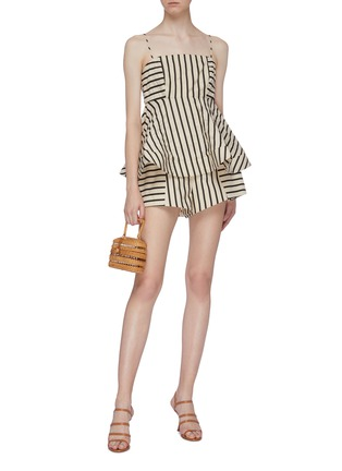 Figure View - Click To Enlarge - C/MEO COLLECTIVE - 'High As Hope' stripe panelled shorts