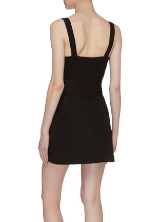 Back View - Click To Enlarge - C/MEO COLLECTIVE - 'Collisions' belted button front sleeveless dress