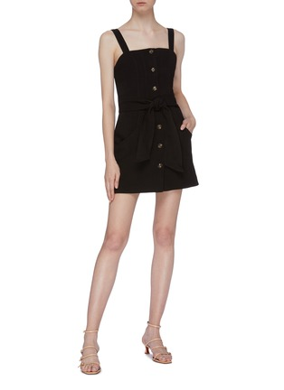 Figure View - Click To Enlarge - C/MEO COLLECTIVE - 'Collisions' belted button front sleeveless dress