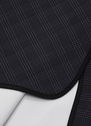 - MATICEVSKI - 'Aquatic' houndstooth check folded panel one shoulder dress
