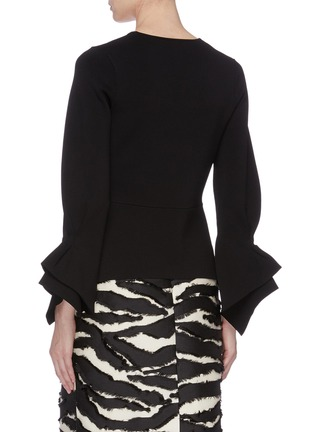 Back View - Click To Enlarge - ROLAND MOURET - 'Positano' tiered flared cuff knit jacket