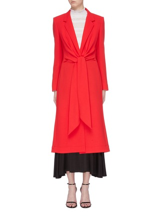 Main View - Click To Enlarge - ROLAND MOURET - 'Hollywell' ruched tie waist wool crepe coat