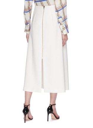 Back View - Click To Enlarge - ROLAND MOURET - 'Holmes' box pleated crepe skirt