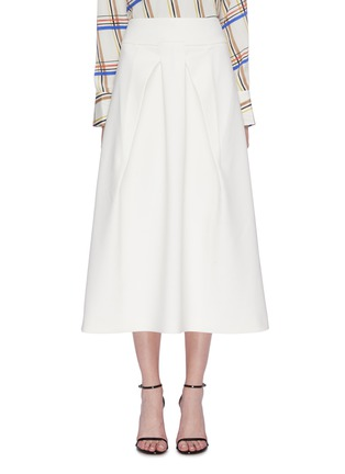 Main View - Click To Enlarge - ROLAND MOURET - 'Holmes' box pleated crepe skirt