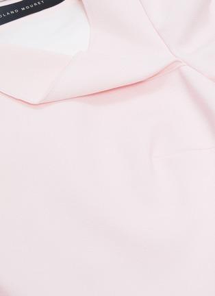 - ROLAND MOURET - 'Liman' asymmetric cowl neck crepe dress