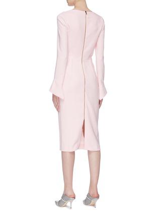 Back View - Click To Enlarge - ROLAND MOURET - 'Liman' asymmetric cowl neck crepe dress