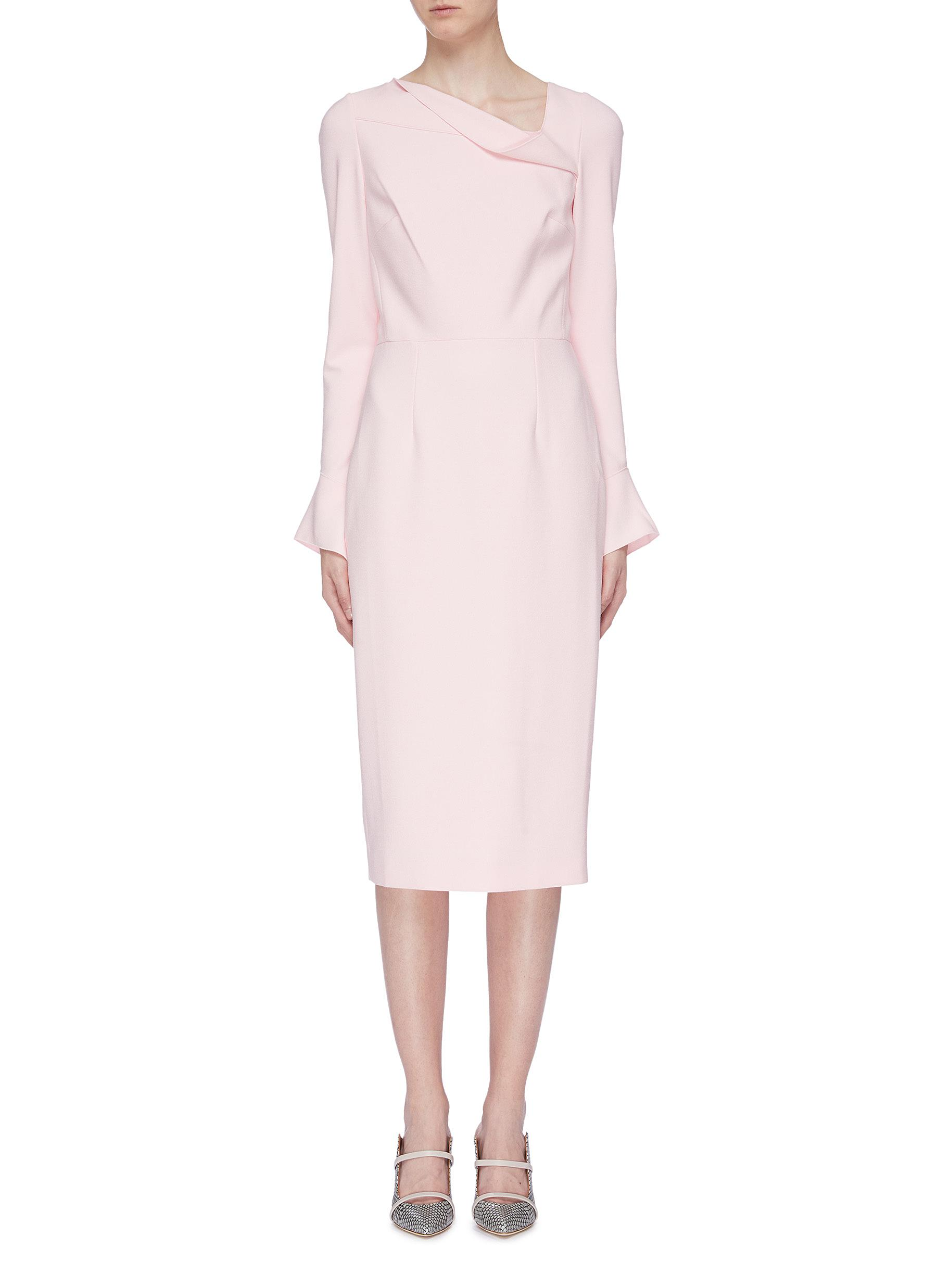 Liman asymmetric cowl neck crepe dress by Roland Mouret