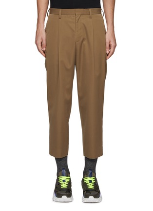Main View - Click To Enlarge - KOLOR - Pleated wool pants