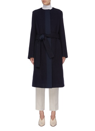Main View - Click To Enlarge - THE ROW - 'Miro' belted cotton-virgin wool coat