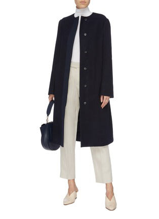 Figure View - Click To Enlarge - THE ROW - 'Miro' belted cotton-virgin wool coat