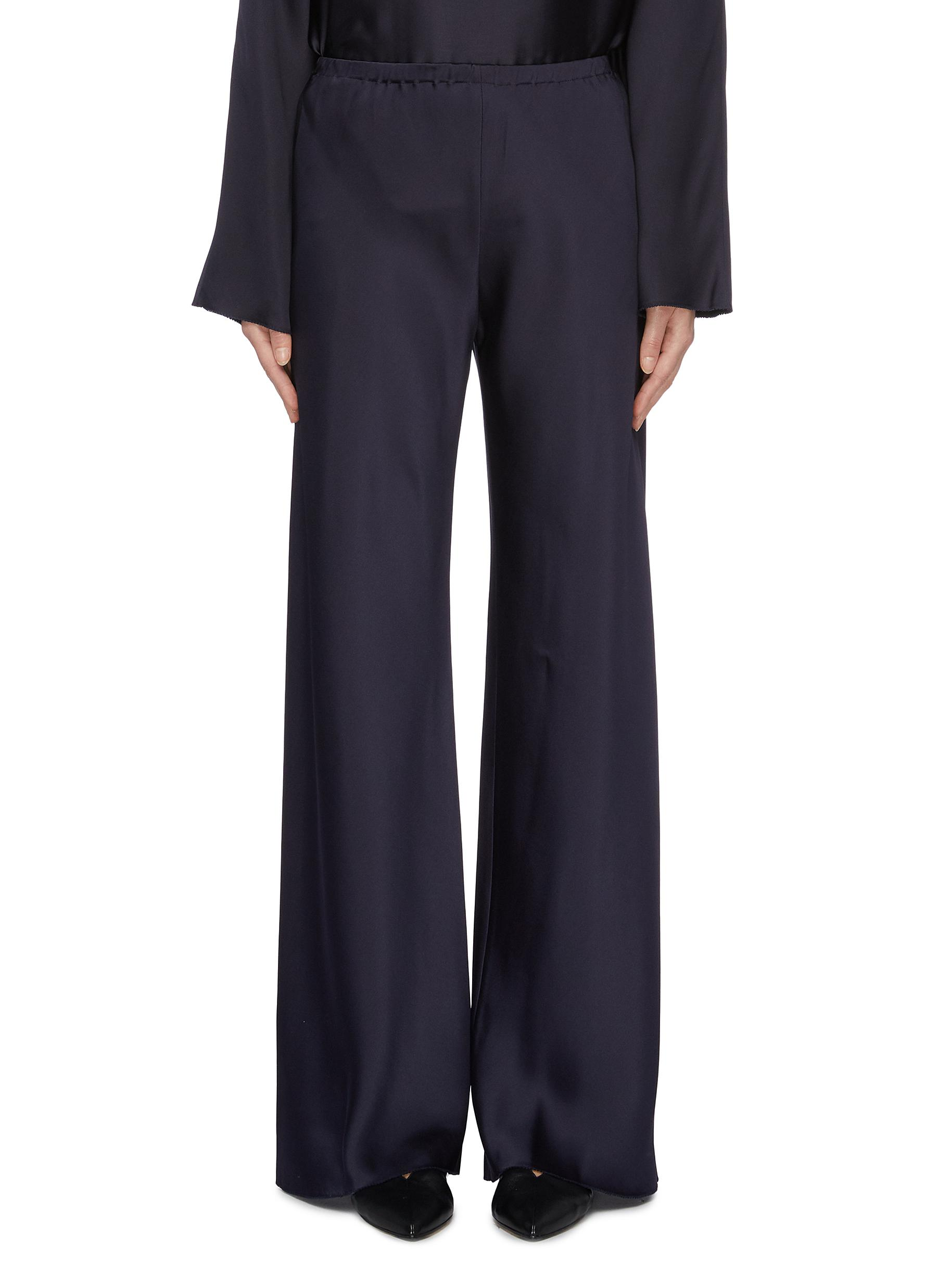 Gala silk cady wide leg pants by The Row