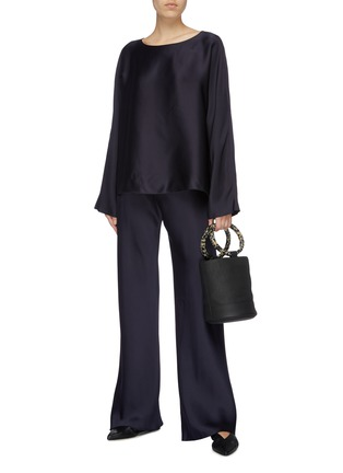 Figure View - Click To Enlarge - THE ROW - 'Gala' silk cady wide leg pants