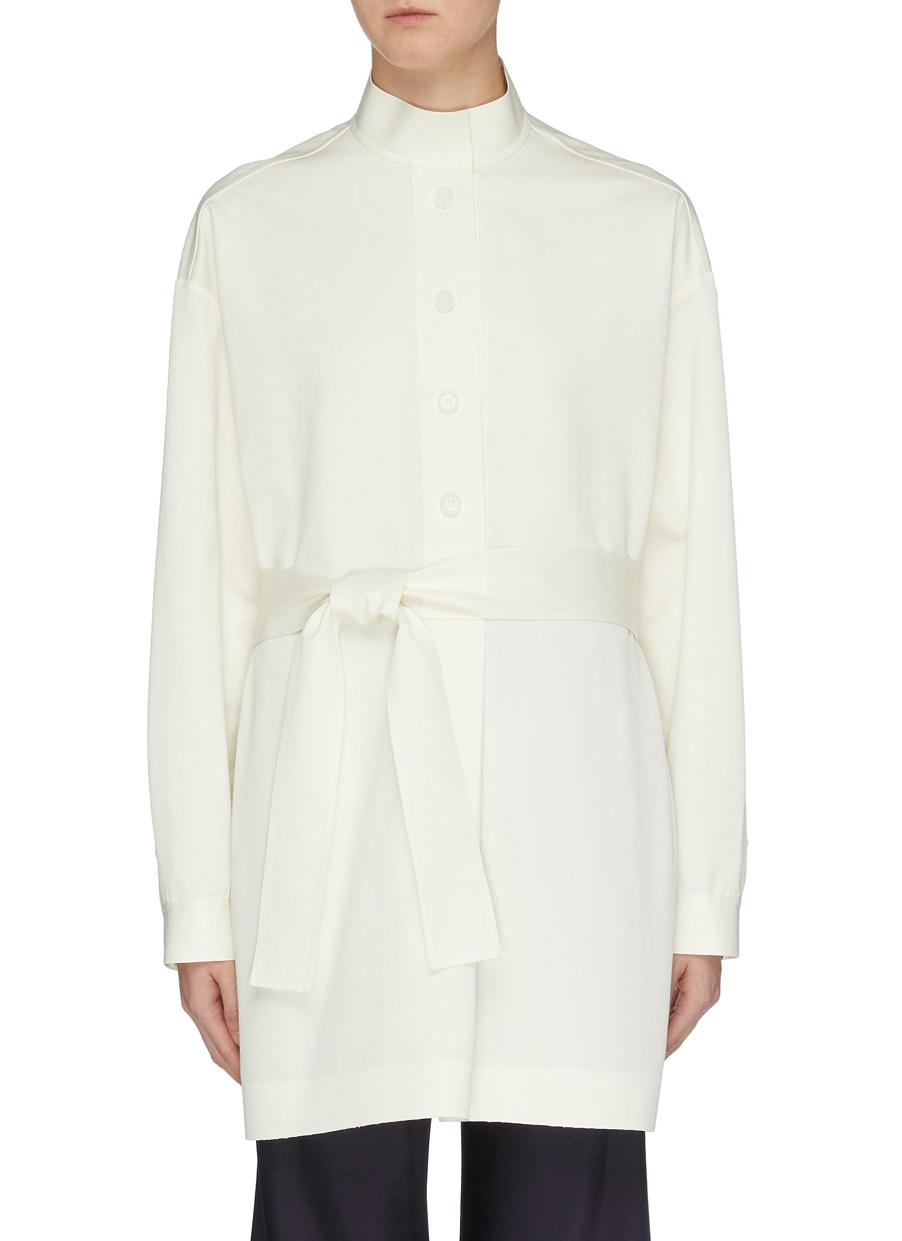 Big Varo belted mock neck oversized shirt by The Row