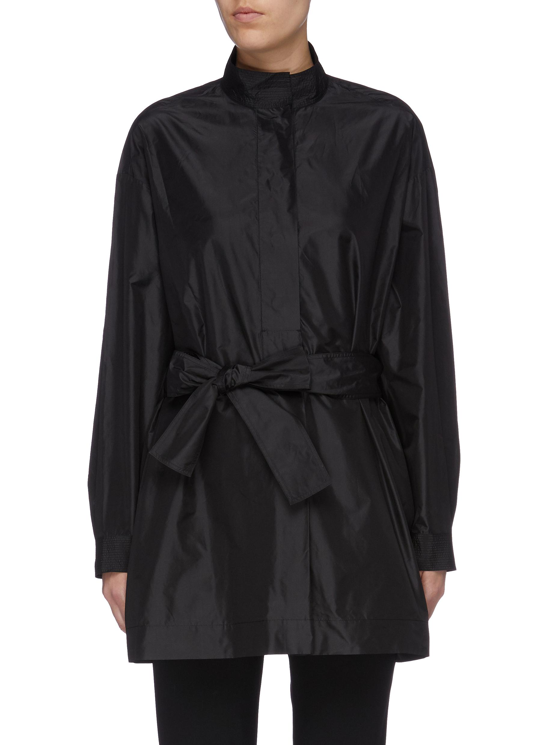 Big Varo belted oversized silk tunic shirt by The Row