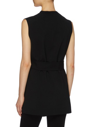 Back View - Click To Enlarge - THE ROW - 'Frieden' tie waist virgin wool sleeveless top
