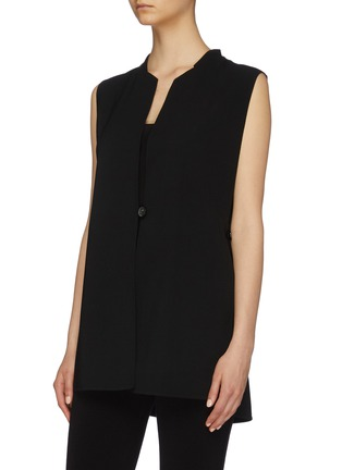 Front View - Click To Enlarge - THE ROW - 'Frieden' tie waist virgin wool sleeveless top