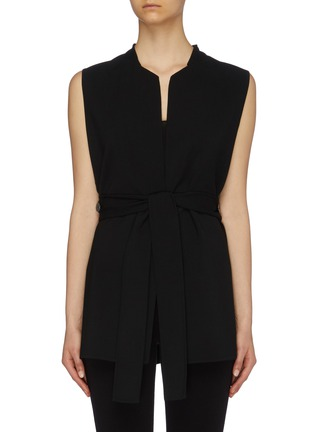 Main View - Click To Enlarge - THE ROW - 'Frieden' tie waist virgin wool sleeveless top