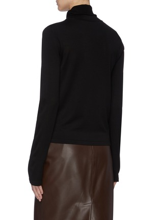 Back View - Click To Enlarge - THE ROW - 'Margita' silk knit turtleneck top