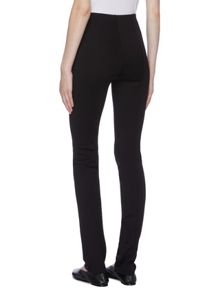 Back View - Click To Enlarge - THE ROW - 'Corza' zip cuff scuba jersey leggings