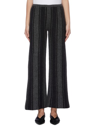 Main View - Click To Enlarge - THE ROW - 'Culotta' stripe cashmere-silk knit wide leg pants