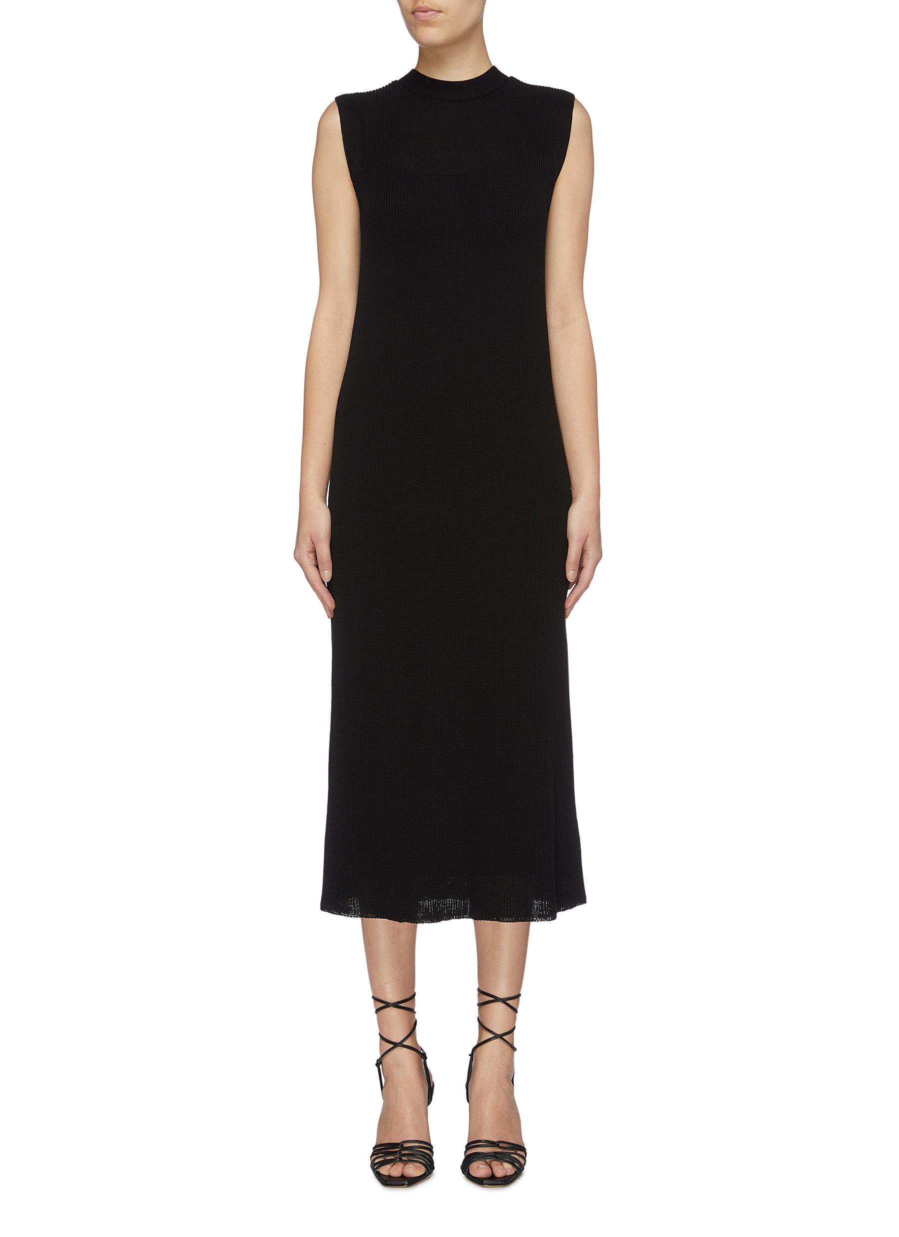 Bowen sleeveless silk-cotton knit dress by The Row