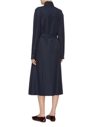 Back View - Click To Enlarge - THE ROW - 'Tula' belted wool tunic dress