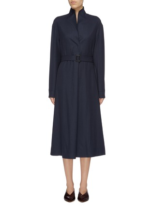 Main View - Click To Enlarge - THE ROW - 'Tula' belted wool tunic dress
