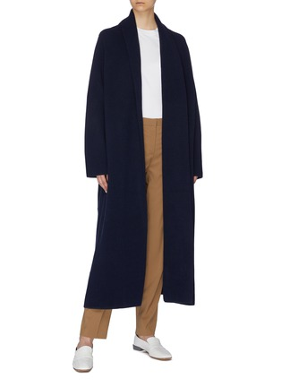 Figure View - Click To Enlarge - THE ROW - 'Hera' belted Merino wool blend long cardigan