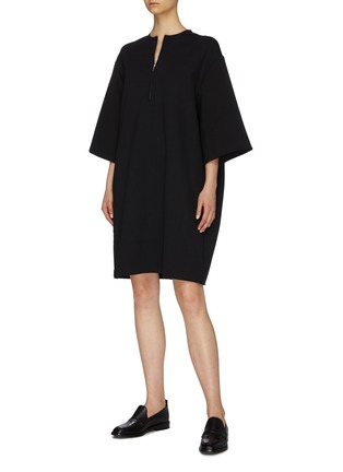 Figure View - Click To Enlarge - THE ROW - 'Latif' boxy scuba jersey shift dress