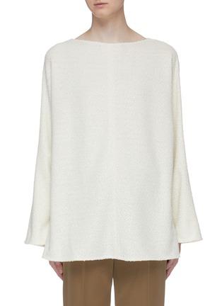 Main View - Click To Enlarge - THE ROW - 'Luida' bouclé knit tunic top