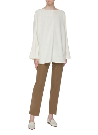Figure View - Click To Enlarge - THE ROW - 'Luida' bouclé knit tunic top