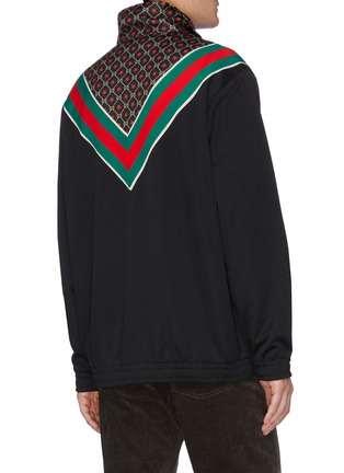 Back View - Click To Enlarge - GUCCI - GG logo star print Web stripe chevron jacket