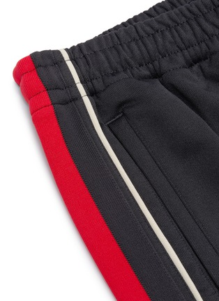 - GUCCI - 'Gucci Band' logo embroidered web striped outseam basketball shorts