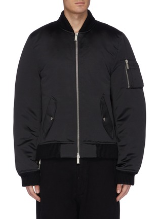 Main View - Click To Enlarge - BEN TAVERNITI UNRAVEL PROJECT  - Padded sateen bomber jacket