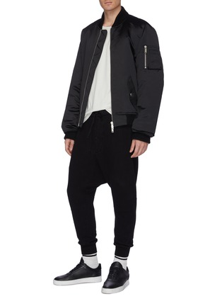 Figure View - Click To Enlarge - BEN TAVERNITI UNRAVEL PROJECT  - Padded sateen bomber jacket