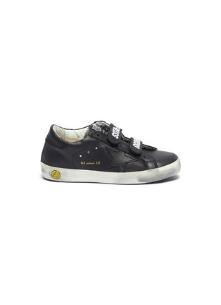 Main View - Click To Enlarge - GOLDEN GOOSE - 'Old School' leather toddler sneakers