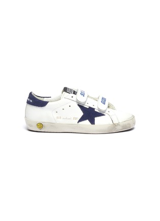 Main View - Click To Enlarge - GOLDEN GOOSE - 'Old School' leather kids sneakers