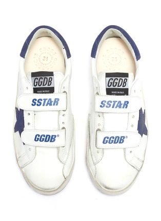 Figure View - Click To Enlarge - GOLDEN GOOSE - 'Old School' leather kids sneakers