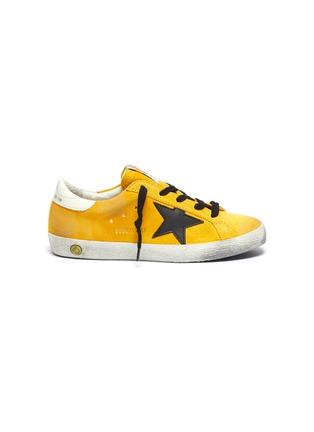 Main View - Click To Enlarge - GOLDEN GOOSE - 'Superstar' suede kids sneakers